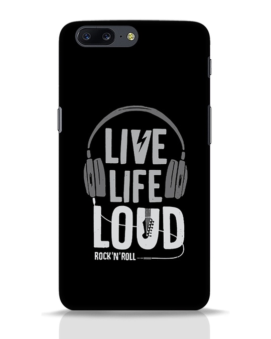 Shop Live Life Loud OnePlus 5 Mobile Cover-Front
