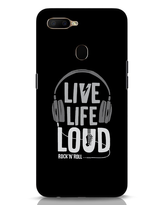 Shop Live Life Loud Oppo A5s Mobile Cover-Front
