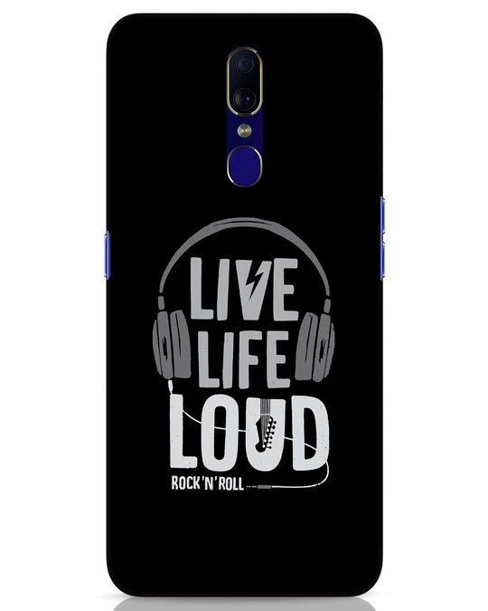 Shop Live Life Loud Oppo F11 Mobile Cover-Front