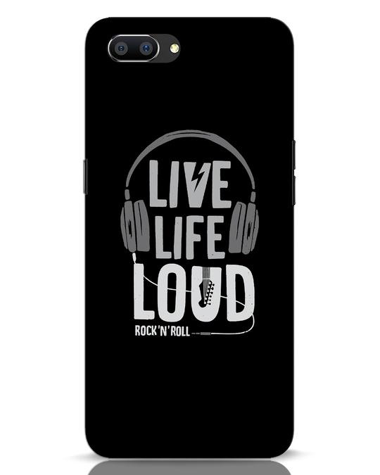 Shop Live Life Loud Realme C1 Mobile Cover-Front