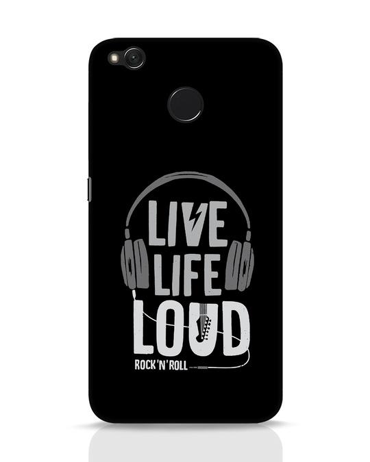 Shop Live Life Loud Xiaomi Redmi 4 Mobile Cover-Front