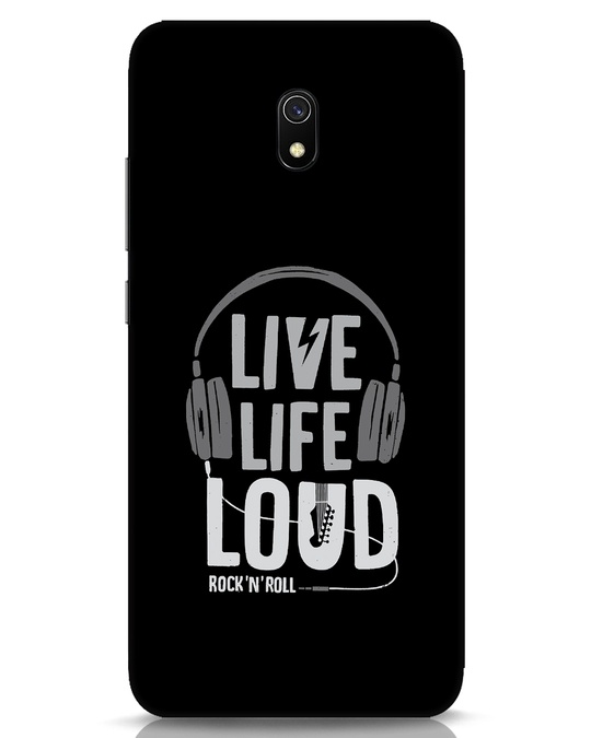 Shop Live Life Loud Xiaomi Redmi 8A Mobile Cover-Front