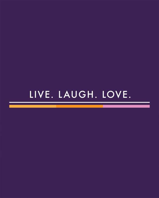 Shop Live Love Strip Round Neck 3/4 Sleeve T-Shirts Parachute Purple