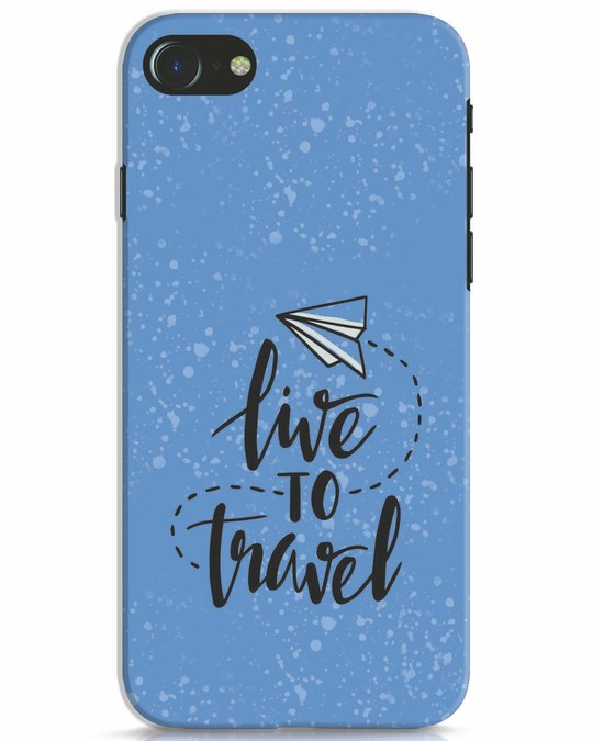 Shop Live To Travel iPhone 8 Mobile Cover-Front