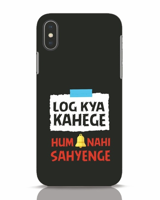 Shop Log Kya Kahenge iPhone X Mobile Cover-Front