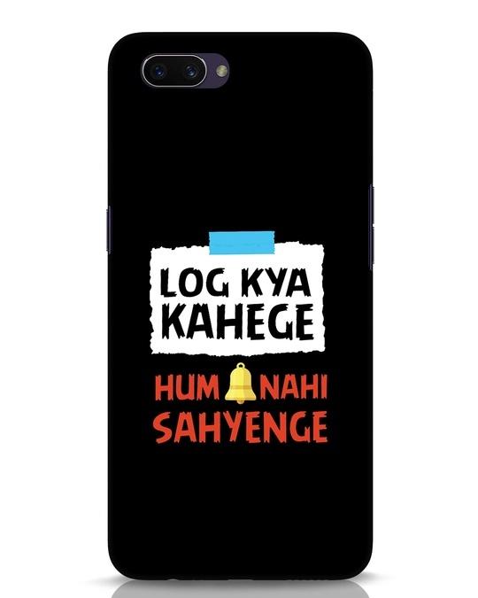 Shop Log Kya Kahenge Oppo A3S Mobile Cover-Front