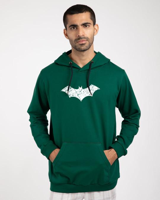 Shop Logo Batman Fleece Hoodies (BML) (GID)-Back