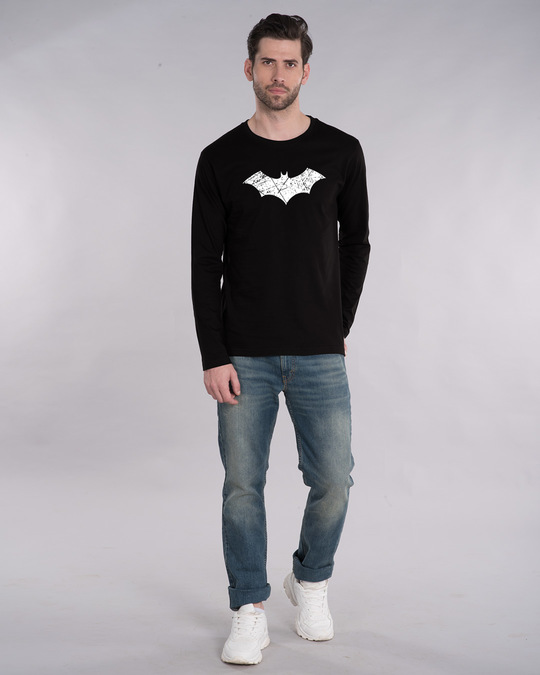 Shop Logo Batman Full Sleeve T-Shirt (BML) (GID)-Full