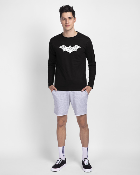 Shop Logo Batman Glow In Dark Full Sleeve T-Shirt (BML)
