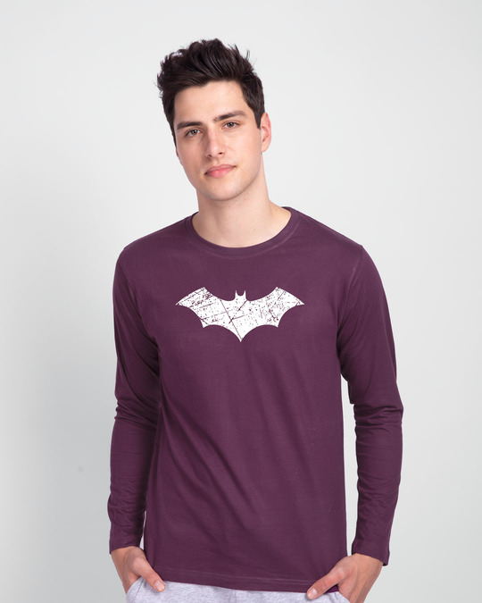 Shop Logo Batman Glow In Dark Full Sleeve T-Shirt-Back