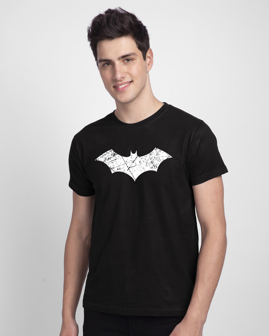 Shop Logo Batman Glow In Dark Half Sleeve T-Shirt (BML) -Back