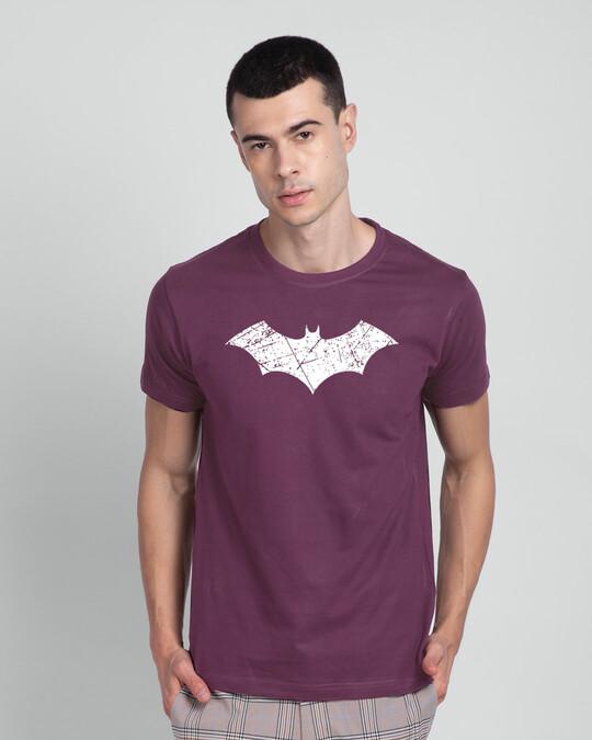Shop Logo Batman Glow In Dark Half Sleeve T-Shirt-Back