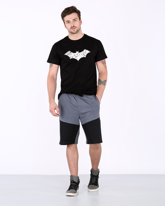 Shop Logo Batman Half Sleeve T-Shirt (BML) (GID)-Full