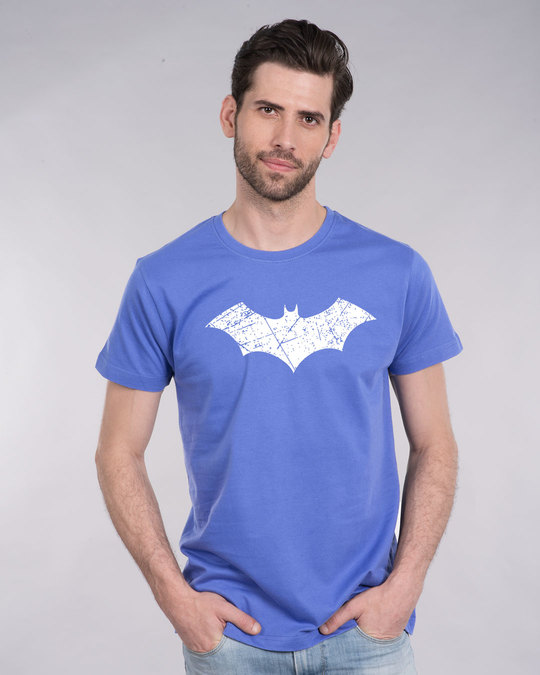 Shop Logo Batman Half Sleeve T-Shirt (BML) (GID)-Back
