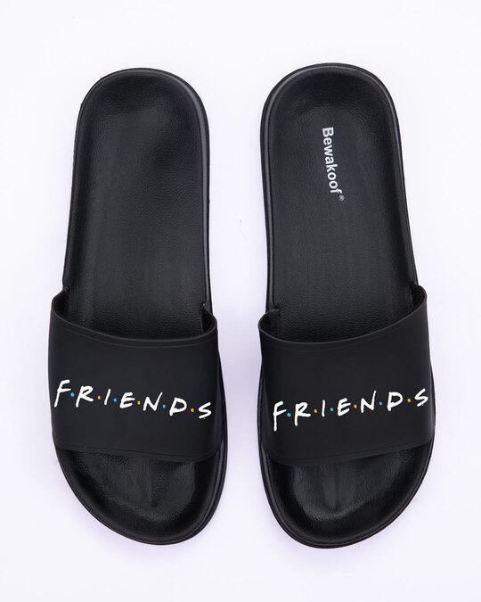 Shop Logo Friends Lightweight Women's Sliders (FRL) Black-Back