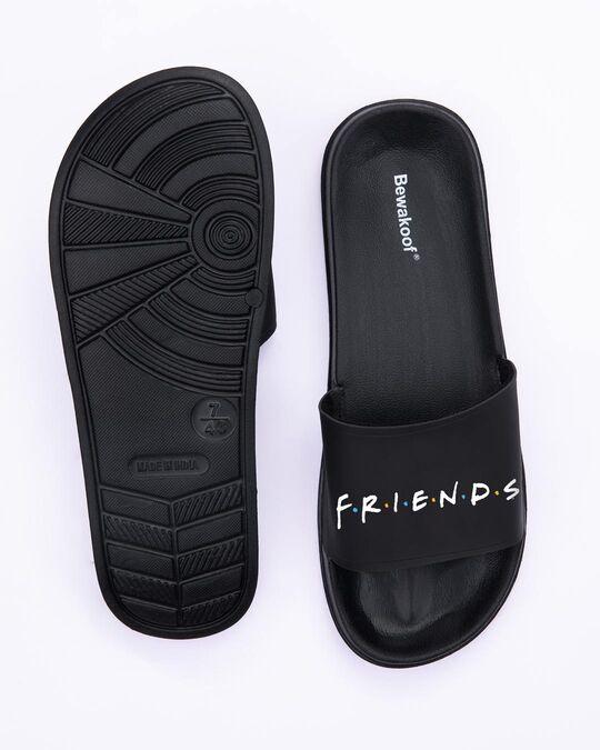 Shop Logo Friends Lightweight Women's Sliders (FRL) Black-Full