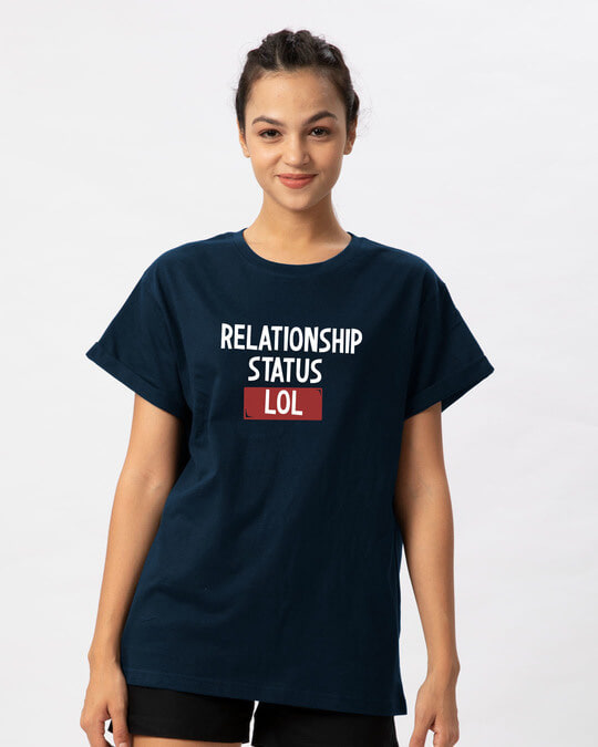 Shop Lol Status Boyfriend T-Shirt-Front