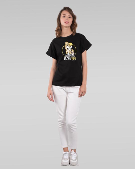 Shop Lola thinking Boyfriend T-Shirt (LTL)-Full