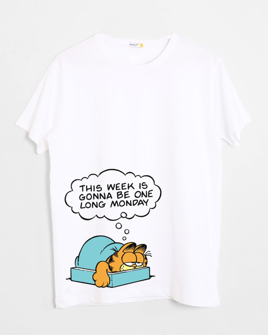 Shop Long Monday Half Sleeve T-Shirt (GL)-Front