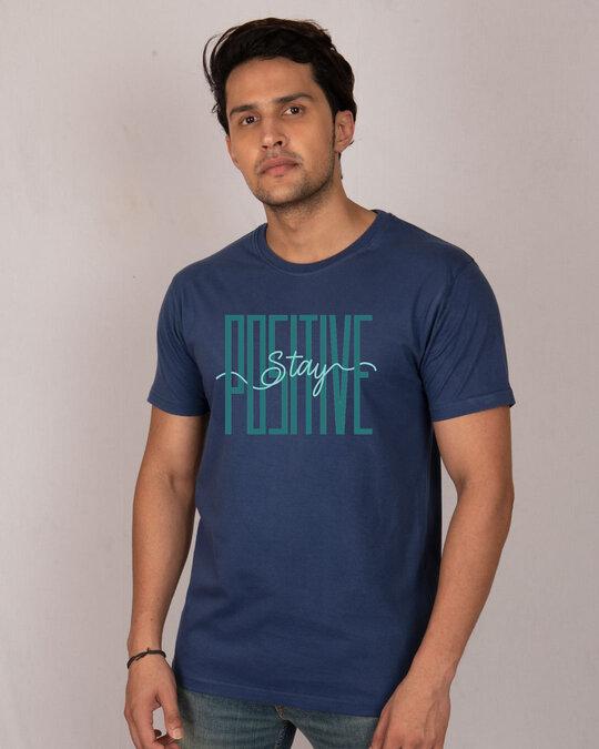 Shop Long Positive Half Sleeve T-Shirt-Front