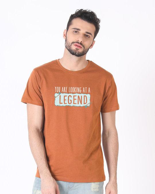Shop Looking At A Legend Half Sleeve T-Shirt-Back