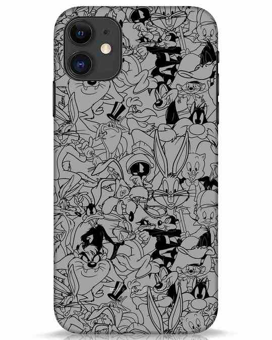 Shop Looney Toons Family iPhone 11 Mobile Cover (LTL)-Front
