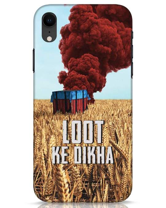 Shop Loot Ke Dikha iPhone XR Mobile Cover-Front