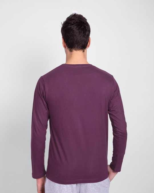 Shop Lost In The Guitar Full Sleeve T-Shirt Deep Purple-Back