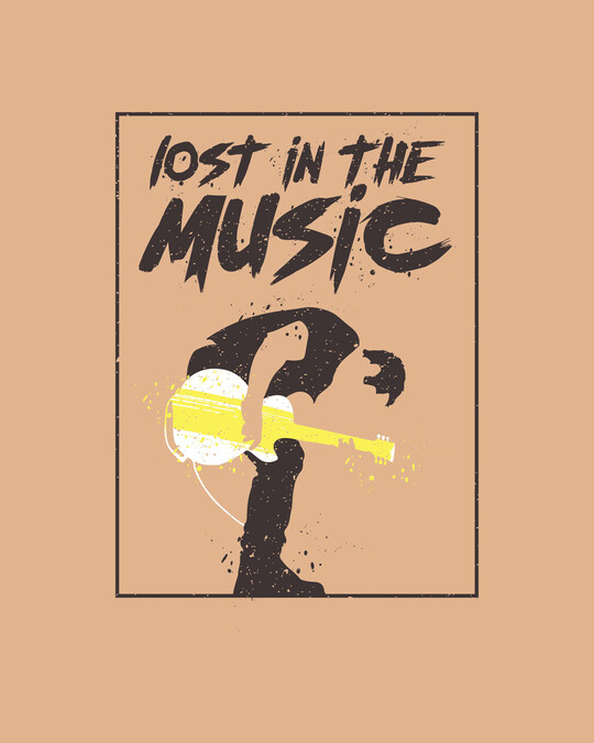 Shop Lost In The Guitar Full Sleeve T-Shirt