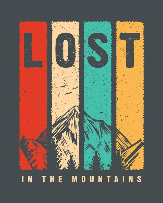 Shop Lost Mountains Half Sleeve T-Shirt-Full