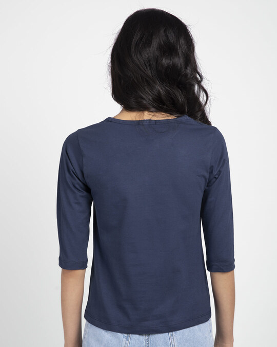 Shop Lost Mountains Round Neck 3/4th Sleeve T-Shirt-Back