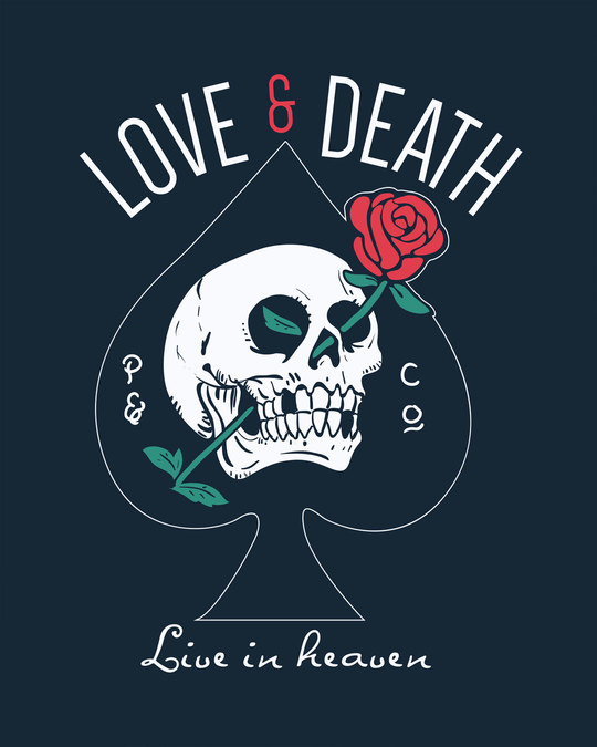 Shop Love And Death Basic Round Hem T-Shirt