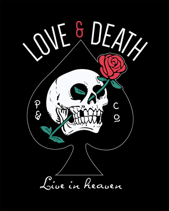 Shop Love And Death Boyfriend T-Shirt