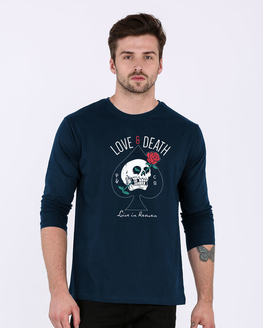 Shop Love And Death Full Sleeve T-Shirt-Front