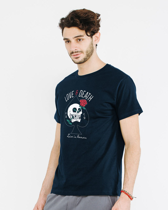 Shop Love And Death Half Sleeve T-Shirt-Full