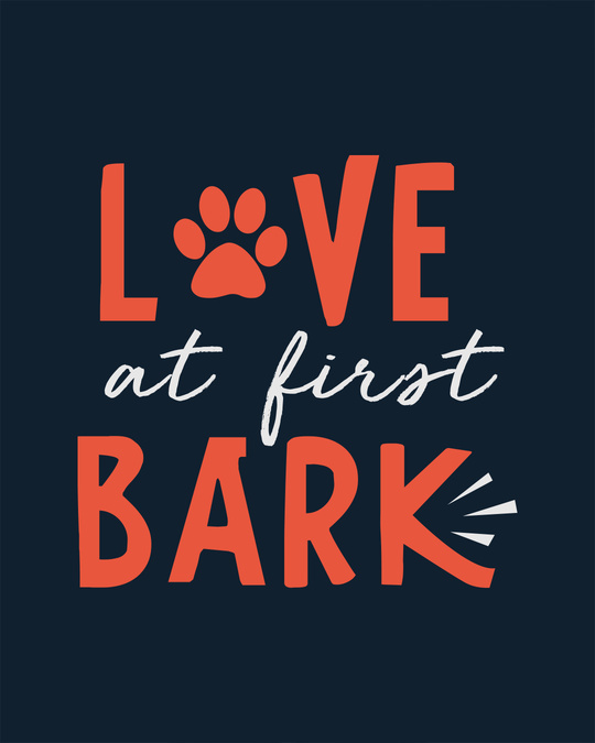 Shop Love At First Bark Boyfriend T-Shirt
