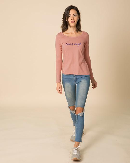 Shop Love Is Enough Scoop Neck Full Sleeve T-Shirt-Design