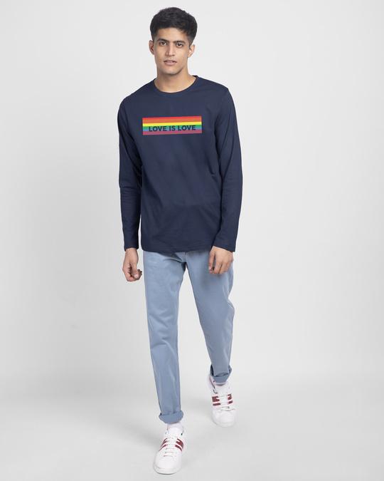 Shop Love Is Love Full Sleeve T-Shirt-Full