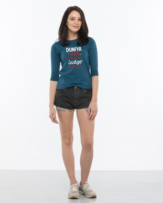 Shop Love Kar Lo Round Neck 3/4th Sleeve T-Shirt