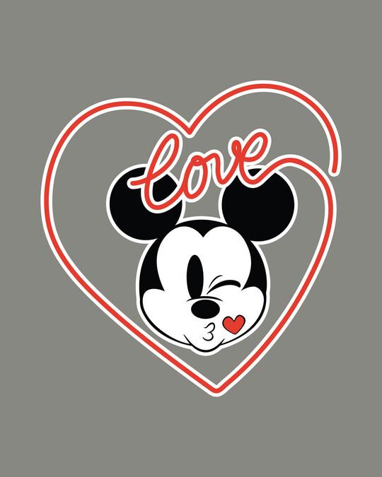 Shop Love Mickey Hearts Boyfriend T-Shirt (DL)