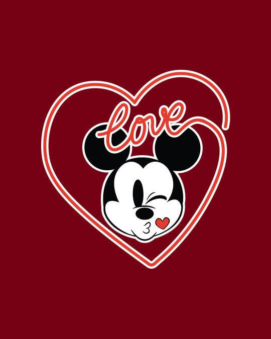 Shop Love Mickey Hearts  Fleece Sweater (DL)