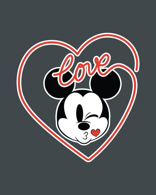 Shop Love Mickey Hearts Half Sleeve T-Shirt (DL)-Full
