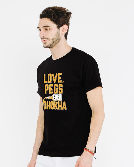 Shop Love Pegs Aur Dhoka Half Sleeve T-Shirt-Full