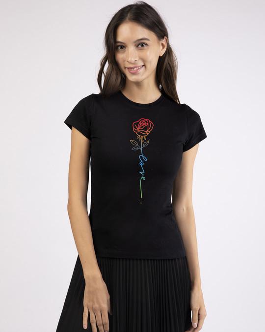 Shop Love Rose Half Sleeve T-Shirt-Design