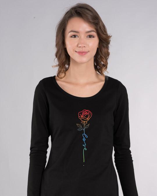 Shop Love Rose Scoop Neck T-Shirt-Front