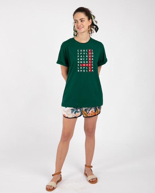 Shop Love Scrabble Boyfriend T-Shirt-Design