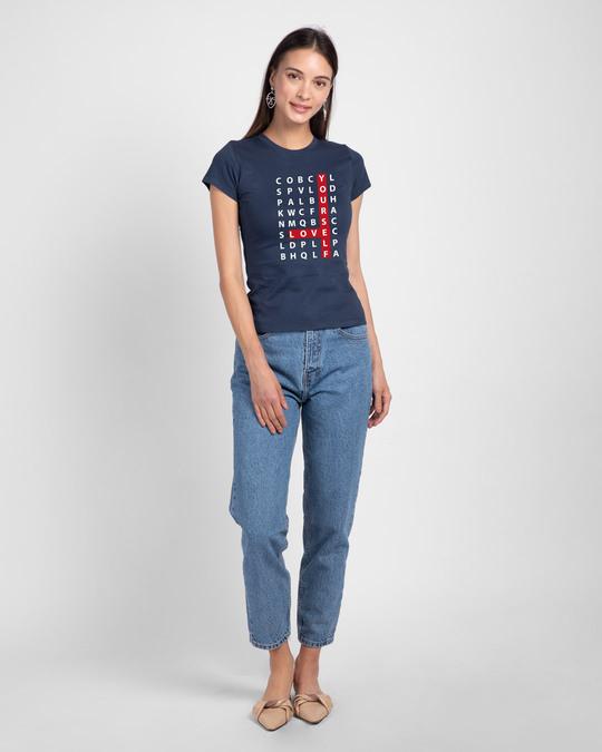 Shop Love Scrabble Half Sleeve T-Shirt-Design