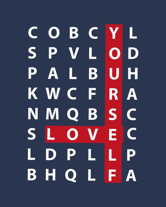 Shop Love Scrabble Half Sleeve T-Shirt-Full