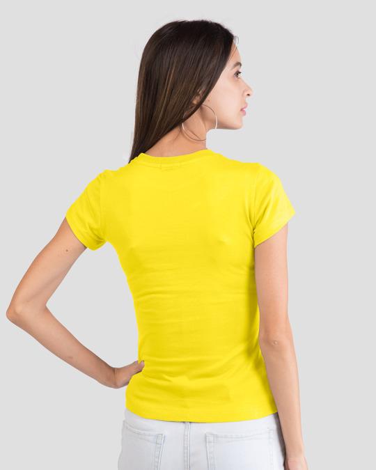Shop Love to do Half Sleeve Printed T-Shirt Pineapple Yellow -Back