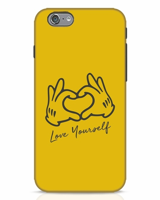 Shop Love Your Self Hand Gesture iPhone 6s Mobile Cover-Front